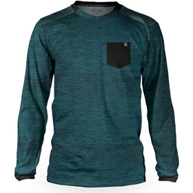 Loose Riders Pocket Longsleeve Jersey Heren, heather teal